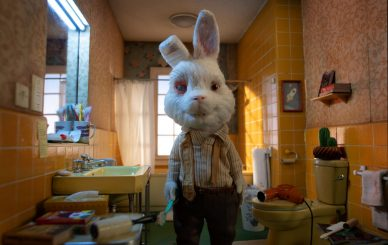 Ralph, spokes-bunny for HSI's global campaign to ban cosmetic testing on animals